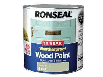 10 Year Weatherproof Wood Paint Spring Green Satin 2.5 litre